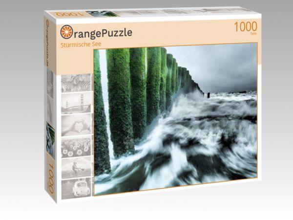 """Puzzle Motiv """"Stürmische See"""" - Puzzle-Schachtel zu 1000 Teile Puzzle"""