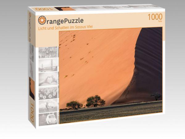 """Puzzle Motiv """"Licht und Schatten im Sossus Vlei"""" - Puzzle-Schachtel zu 1000 Teile Puzzle"""