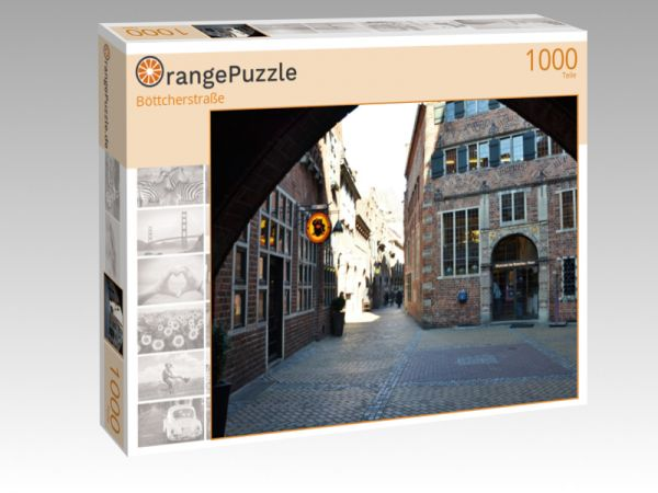 """Puzzle Motiv """"Böttcherstraße"""" - Puzzle-Schachtel zu 1000 Teile Puzzle"""