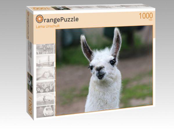 """Puzzle Motiv """"Lama Unschult"""" - Puzzle-Schachtel zu 1000 Teile Puzzle"""