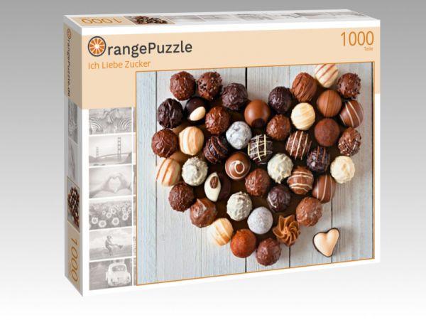 """Puzzle Motiv """"Ich Liebe Zucker"""" - Puzzle-Schachtel zu 1000 Teile Puzzle"""