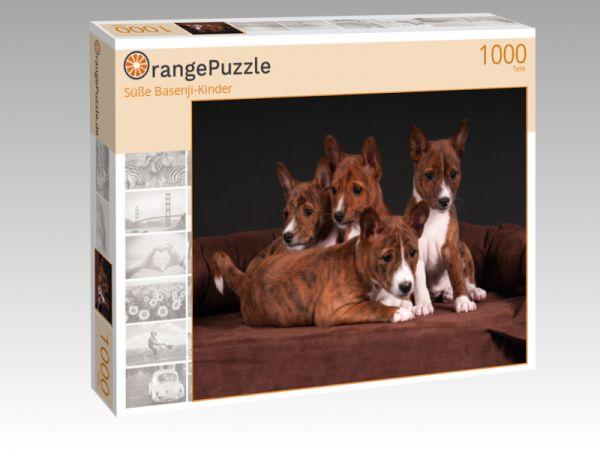 "Puzzle Motiv ""Süße Basenji-Kinder"" - Puzzle-Schachtel zu 1000 Teile Puzzle"