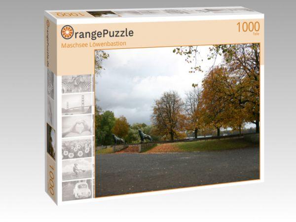 """Puzzle Motiv """"Maschsee Löwenbastion"""" - Puzzle-Schachtel zu 1000 Teile Puzzle"""