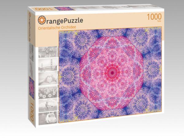 """Puzzle Motiv """"Orientalische Orchidee"""" - Puzzle-Schachtel zu 1000 Teile Puzzle"""