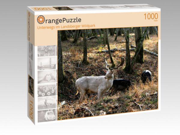 """Puzzle Motiv """"Unterwegs im Landsberger Wildpark"""" - Puzzle-Schachtel zu 1000 Teile Puzzle"""