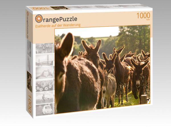 """Puzzle Motiv """"Eselherde auf der Wanderung"""" - Puzzle-Schachtel zu 1000 Teile Puzzle"""