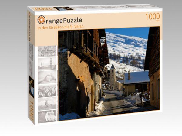 """Puzzle Motiv """"In den Straßen von St. Veran"""" - Puzzle-Schachtel zu 1000 Teile Puzzle"""