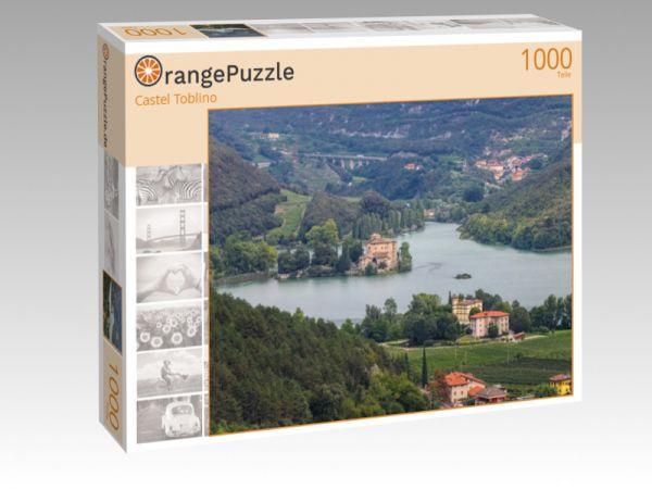 """Puzzle Motiv """"Castel Toblino"""" - Puzzle-Schachtel zu 1000 Teile Puzzle"""