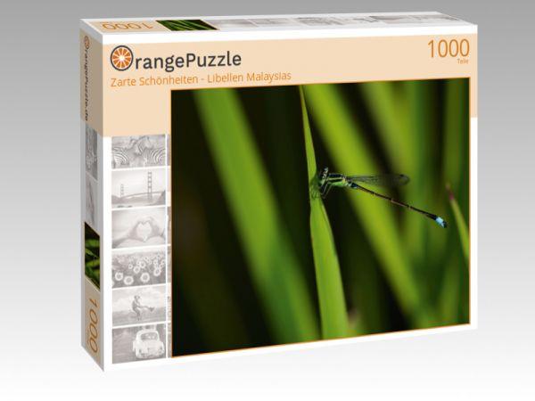 """Puzzle Motiv """"""""Zarte Schönheiten - Libellen Malaysias"""""""" - Puzzle-Schachtel zu 1000 Teile Puzzle"""