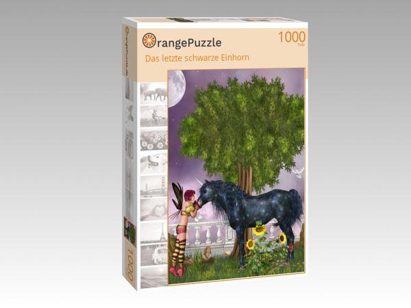 """Puzzle Motiv """"Das letzte schwarze Einhorn"""" - Puzzle-Schachtel zu 1000 Teile Puzzle"""