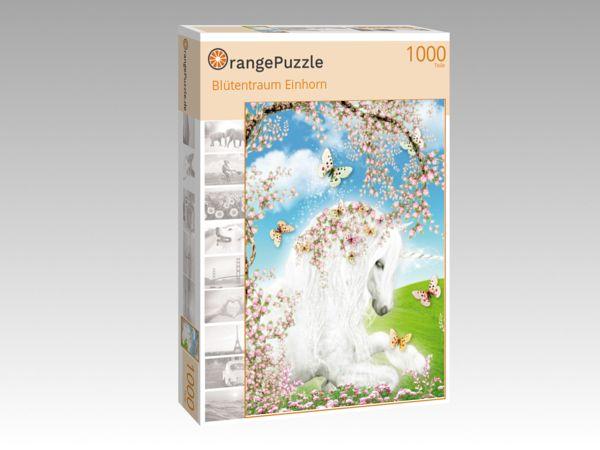 """Puzzle Motiv """"Blütentraum Einhorn"""" - Puzzle-Schachtel zu 1000 Teile Puzzle"""