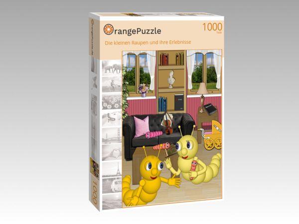 """Puzzle Motiv """"Die kleinen Raupen und ihre Erlebnisse"""" - Puzzle-Schachtel zu 1000 Teile Puzzle"""