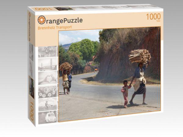 """Puzzle Motiv """"Brennholz Transport"""" - Puzzle-Schachtel zu 1000 Teile Puzzle"""
