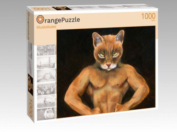 """Puzzle Motiv """"Muskelkater"""" - Puzzle-Schachtel zu 1000 Teile Puzzle"""
