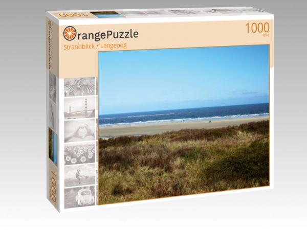 """Puzzle Motiv """"Strandblick / Langeoog"""" - Puzzle-Schachtel zu 1000 Teile Puzzle"""