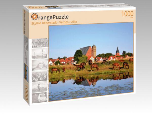 """Puzzle Motiv """"Skyline Reiterstadt - Verden / Aller"""" - Puzzle-Schachtel zu 1000 Teile Puzzle"""