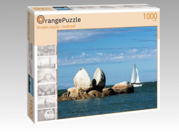 """Puzzle Motiv """"Broken Apple - Südinsel"""" - Puzzle-Schachtel zu 1000 Teile Puzzle"""