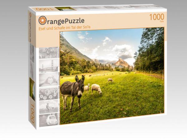 """Puzzle Motiv """"Esel und Schafe im Tal der So?a"""" - Puzzle-Schachtel zu 1000 Teile Puzzle"""