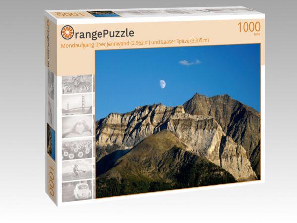 """Puzzle Motiv """"""""Mondaufgang"""" über Jennwand (2.962 m) und Laaser Spitze (3.305 m)"""" - Puzzle-Schachtel zu 1000 Teile Puzzle"""