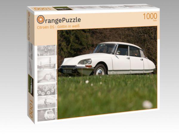"""Puzzle Motiv """"Citroën DS - Göttin in weiß"""" - Puzzle-Schachtel zu 1000 Teile Puzzle"""