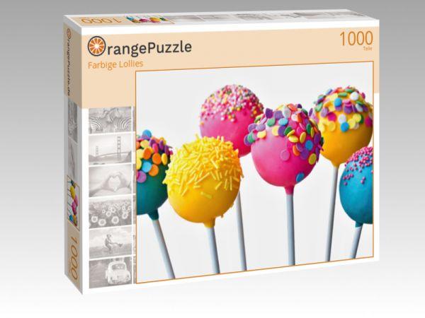 """Puzzle Motiv """"Farbige Lollies"""" - Puzzle-Schachtel zu 1000 Teile Puzzle"""