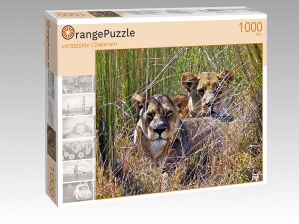 """Puzzle Motiv """"versteckte Löwinnen"""" - Puzzle-Schachtel zu 1000 Teile Puzzle"""