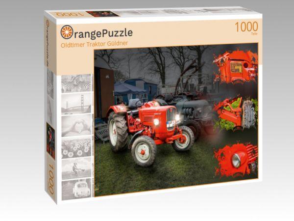 "Puzzle Motiv ""Oldtimer Traktor Güldner"" - Puzzle-Schachtel zu 1000 Teile Puzzle"