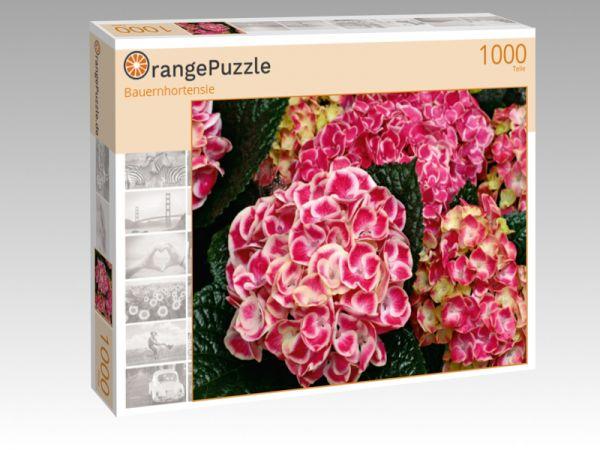 """Puzzle Motiv """"Bauernhortensie"""" - Puzzle-Schachtel zu 1000 Teile Puzzle"""