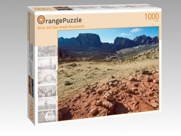 "Puzzle Motiv ""Blick auf das Wadi Kharareeb"" - Puzzle-Schachtel zu 1000 Teile Puzzle"