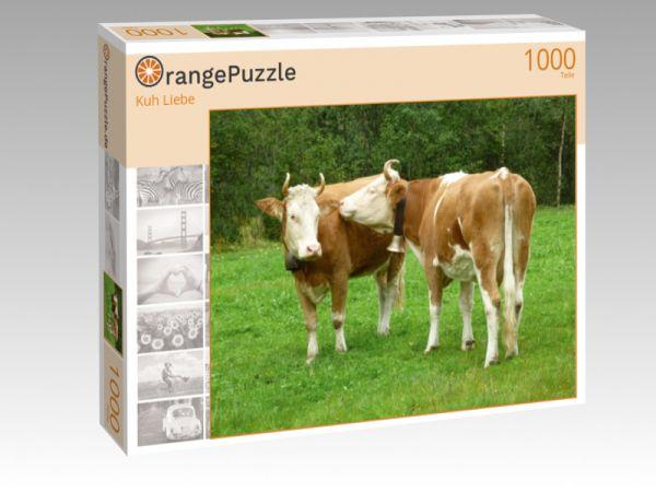"""Puzzle Motiv """"Kuh Liebe"""" - Puzzle-Schachtel zu 1000 Teile Puzzle"""