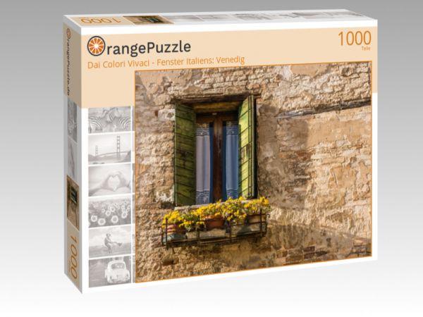 "Puzzle Motiv ""Dai Colori Vivaci - Fenster Italiens: Venedig"" - Puzzle-Schachtel zu 1000 Teile Puzzle"