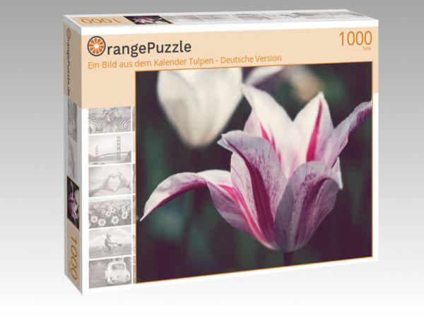 """Puzzle Motiv """"Ein Bild aus dem Kalender Tulpen - Deutsche Version"""" - Puzzle-Schachtel zu 1000 Teile Puzzle"""