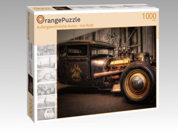 """Puzzle Motiv """"Außergewöhnliche Autos - Hot Rods"""" - Puzzle-Schachtel zu 1000 Teile Puzzle"""