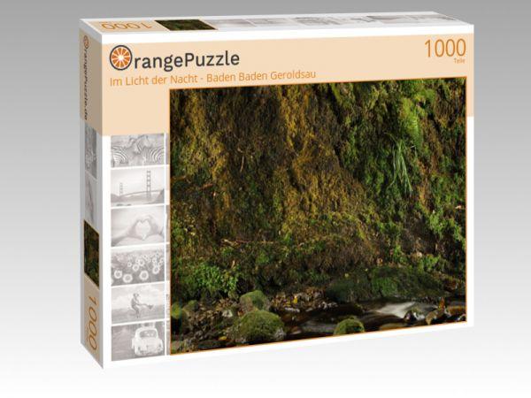 """Puzzle Motiv """"Im Licht der Nacht - Baden Baden Geroldsau"""" - Puzzle-Schachtel zu 1000 Teile Puzzle"""