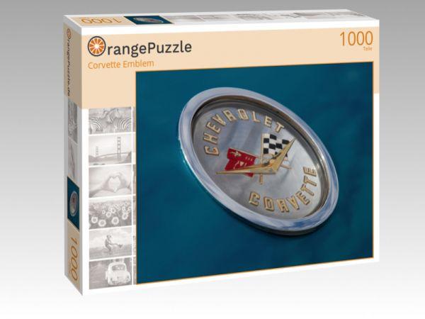 """Puzzle Motiv """"Corvette Emblem"""" - Puzzle-Schachtel zu 1000 Teile Puzzle"""