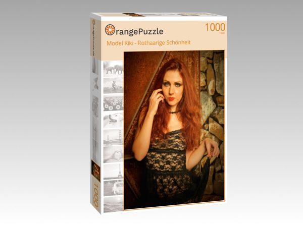 """Puzzle Motiv """"Model Kiki - Rothaarige Schönheit"""" - Puzzle-Schachtel zu 1000 Teile Puzzle"""