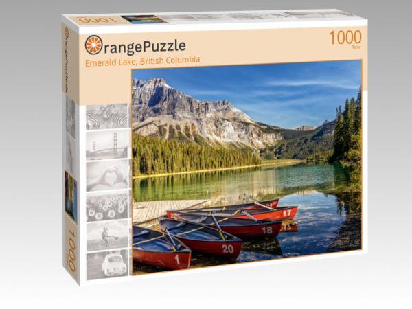 "Puzzle Motiv ""Emerald Lake, British Columbia"" - Puzzle-Schachtel zu 1000 Teile Puzzle"