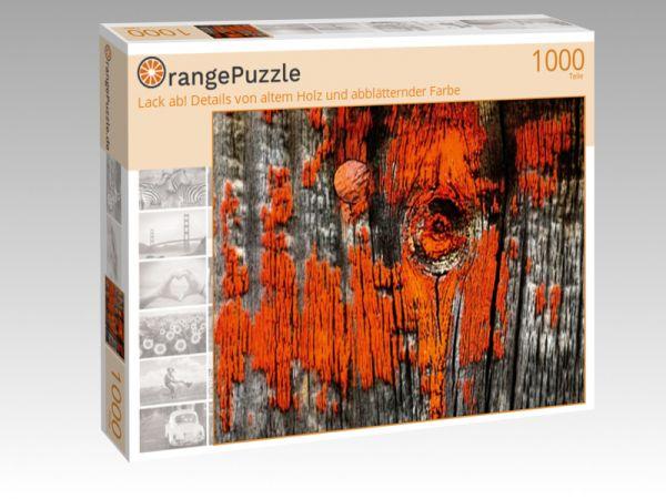 """Puzzle Motiv """"Lack ab! Details von altem Holz und abblätternder Farbe"""" - Puzzle-Schachtel zu 1000 Teile Puzzle"""