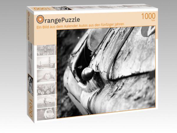"""Puzzle Motiv """"Ein Bild aus dem Kalender Autos aus den fünfziger Jahren"""" - Puzzle-Schachtel zu 1000 Teile Puzzle"""