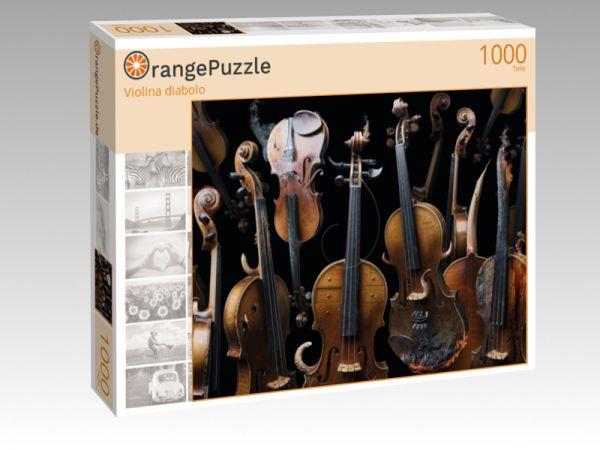 """Puzzle Motiv """"Violina diabolo"""" - Puzzle-Schachtel zu 1000 Teile Puzzle"""