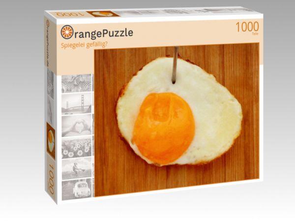 """Puzzle Motiv """"Spiegelei gefällig?"""" - Puzzle-Schachtel zu 1000 Teile Puzzle"""