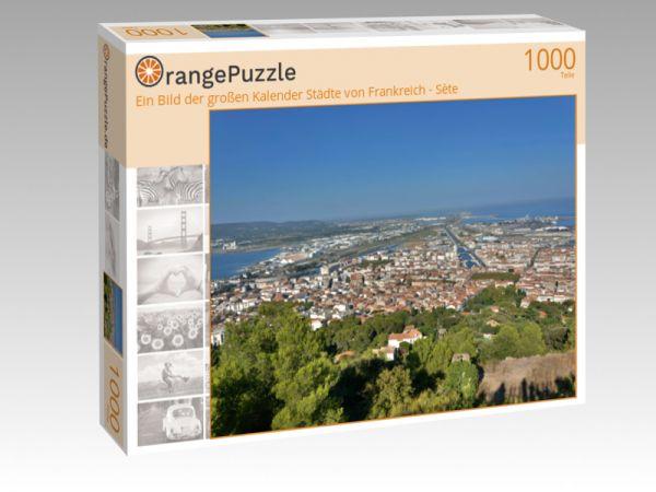"""Puzzle Motiv """"Ein Bild der großen Kalender Städte von Frankreich - Sète"""" - Puzzle-Schachtel zu 1000 Teile Puzzle"""