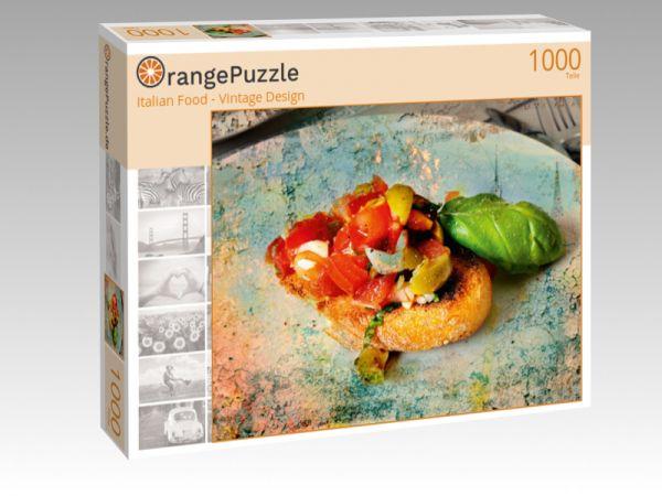 """Puzzle Motiv """"Italian Food - Vintage Design"""" - Puzzle-Schachtel zu 1000 Teile Puzzle"""