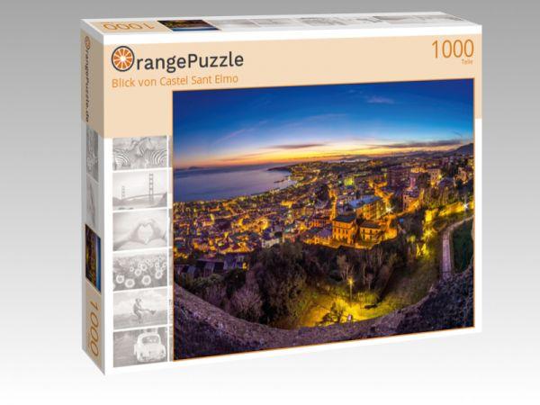 """Puzzle Motiv """"Blick von Castel Sant Elmo"""" - Puzzle-Schachtel zu 1000 Teile Puzzle"""