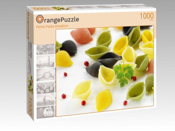 "Puzzle Motiv ""Feine Pasta Kreation"" - Puzzle-Schachtel zu 1000 Teile Puzzle"
