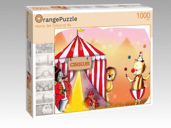 """Puzzle Motiv """"Hurra, der Zirkus ist da"""" - Puzzle-Schachtel zu 1000 Teile Puzzle"""