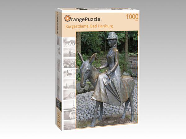 "Puzzle Motiv ""Kurgastdame, Bad Harzburg"" - Puzzle-Schachtel zu 1000 Teile Puzzle"