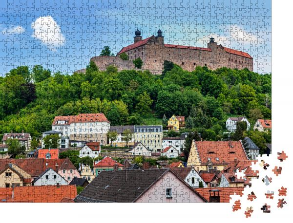 """Puzzle-Motiv """"Das Stadtbild von Kulmbach mit der Plassenburg, Bayern, Deutschland"""" - Puzzle-Teile zu 1000 Teile Puzzle"""
