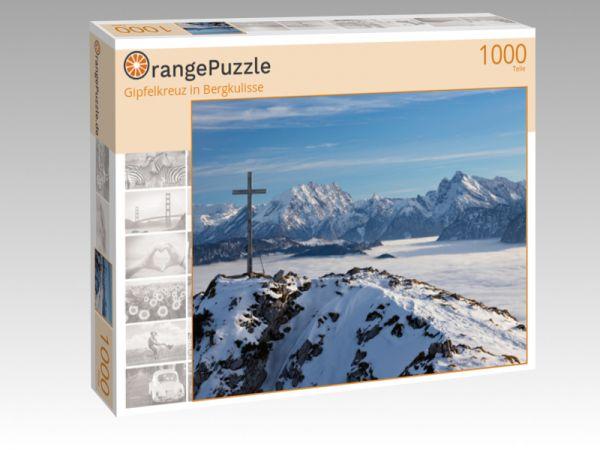 """Puzzle Motiv """"Gipfelkreuz in Bergkulisse"""" - Puzzle-Schachtel zu 1000 Teile Puzzle"""