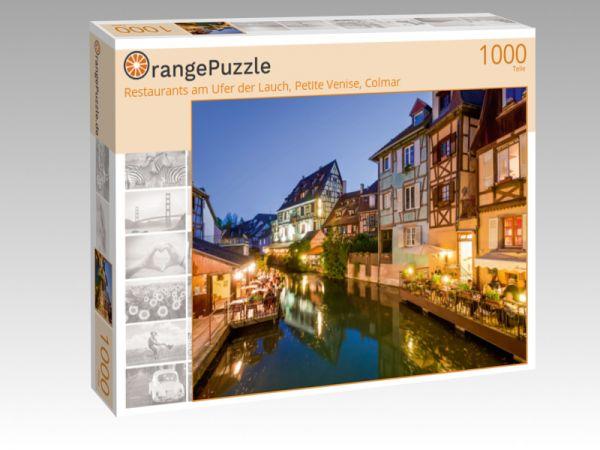 """Puzzle Motiv """"Restaurants am Ufer der Lauch, Petite Venise, Colmar"""" - Puzzle-Schachtel zu 1000 Teile Puzzle"""